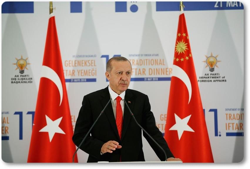 Cumhurbaşkanı Erdoğan, Geleneksel Büyükelçiler İftarı'nda konuştu