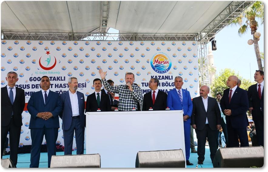Cumhurbaşkanı Erdoğan, Tarsus Turizm Bölgesi ve Devlet Hastanesi'nin temel atma törenine katıldı