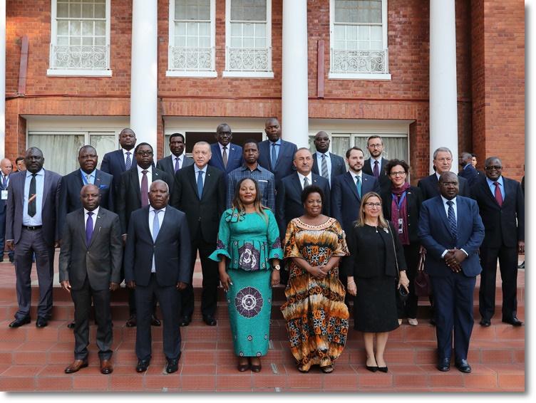 Cumhurbaşkanı Erdoğan, Zambiya Cumhurbaşkanı Lungu ile heyetler arası görüşmelere katıldı